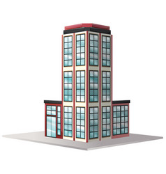 architecture design for office building with many vector image