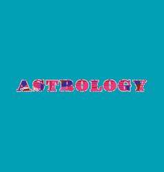 astrology concept word art vector image