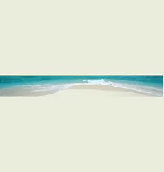 banner sandy beach and sea waves vector image