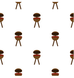 Bbq party grill pattern seamless vector