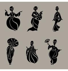 Beautiful Chinese Women vector image