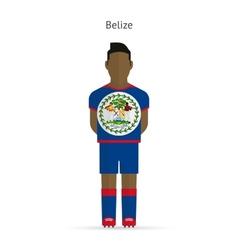 Belize football player Soccer uniform vector