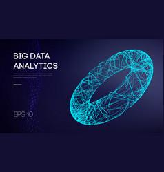 big data network information background internet vector image