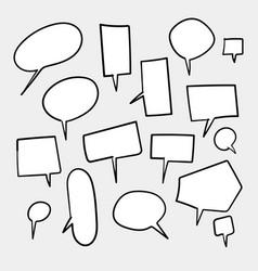Blank white speech bubbles thinking balloon vector