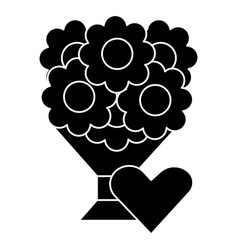 bouquet of flowers 2 icon vector image