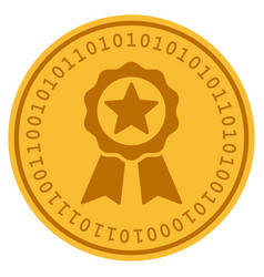 Certificate seal digital coin vector