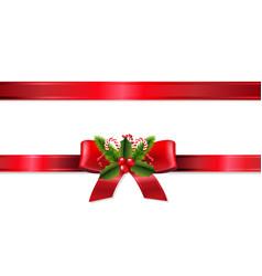 christmas ribbon vector image