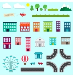 City infographics design vector image