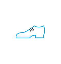 Classic shoes thin line stroke icon vector