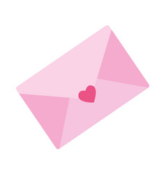 closed postal envelope with small heart vector image