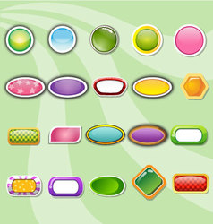 Collection buttons of colorful templates vector image