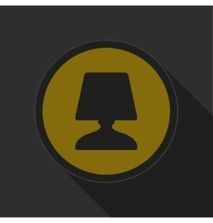dark gray and yellow icon - lamp vector image