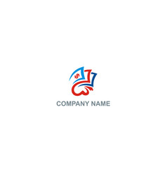 dollar sign payment company logo vector image