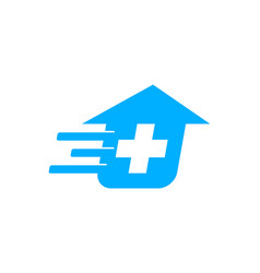 fast medical logo design template vector image