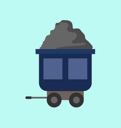 flat style mining transport train graphic vector image