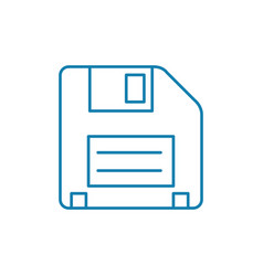 floppy disk linear icon concept floppy disk line vector image