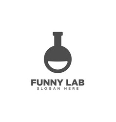Funny lab logo design template vector