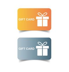 gift card discount coupon flat vector image