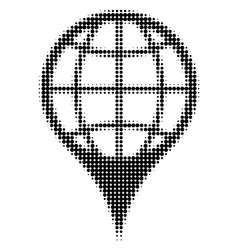 global location halftone icon vector image