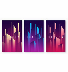 Gradient geometric abstract backgrounds vector
