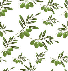 Green olive seamless background vector