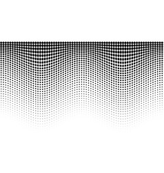 halftone wave pattern horizontal background vector image