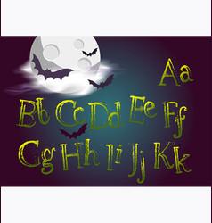 Halloween typeset spooky font for halloween vector