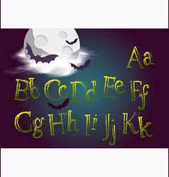 Halloween typeset spooky font for vector