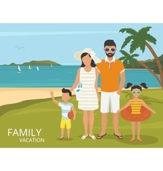 Happy family vacations flat design vector