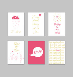happy valentines day lettering card typographic vector image