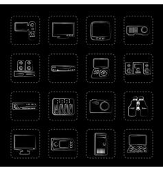 Hi-tech equipment icons vector