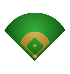 Isolated baseball field vector