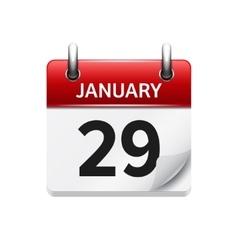 January 29 flat daily calendar icon Date vector
