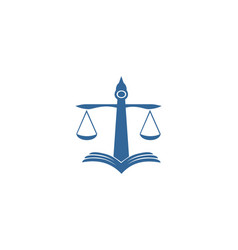 law lawyer court logo vector image