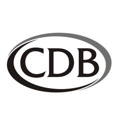 letter cdb modern logo vector image