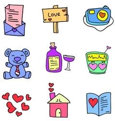 Love romance doodles vector