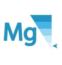 Magnesium content indicator sign vector
