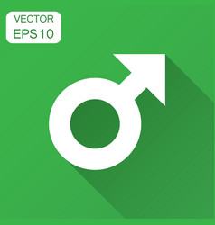 male sex symbol icon in flat style men gender vector image