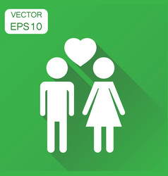 man and woman with heart icon business concept vector image