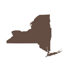 map us state new york vector image