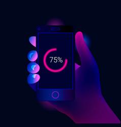 mobile diagram finance statistics report vector image