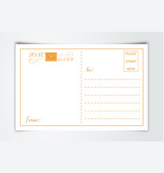 modern postcard inner reverse side blank template vector image