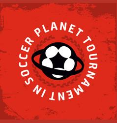 modern professional emblem planet vector image