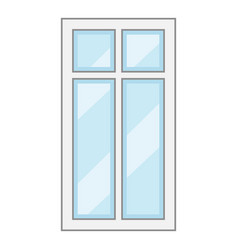 modern window frame icon cartoon style vector image vector image