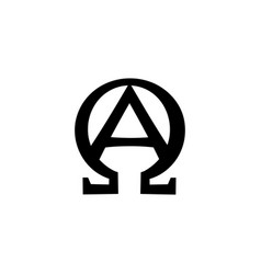 Monogram of biblical phrase - i am alpha and omega vector