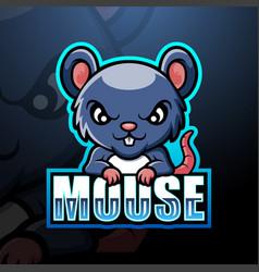 Mouse mascot esport logo design vector
