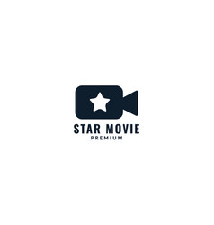 Movie or film recorder with star logo design vector