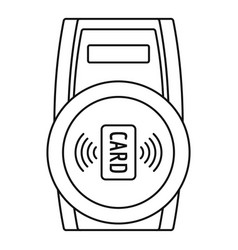 Nfc payment device icon outline style vector