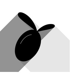 olive sign black icon with vector image