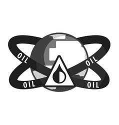 Petroleum industry symbol flat vector